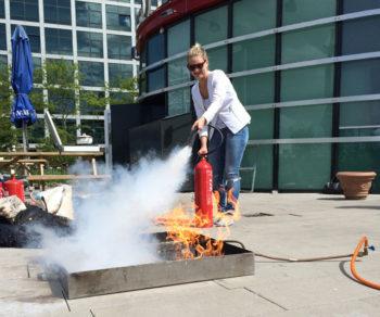 Leren blussen met een brandblusser