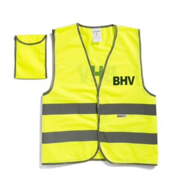 BHV veiligheidsvest geel